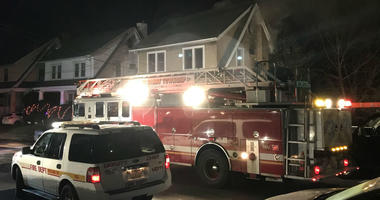 Five people were sent to the hospital after fire tore through a home in Upper Darby, Delaware County.