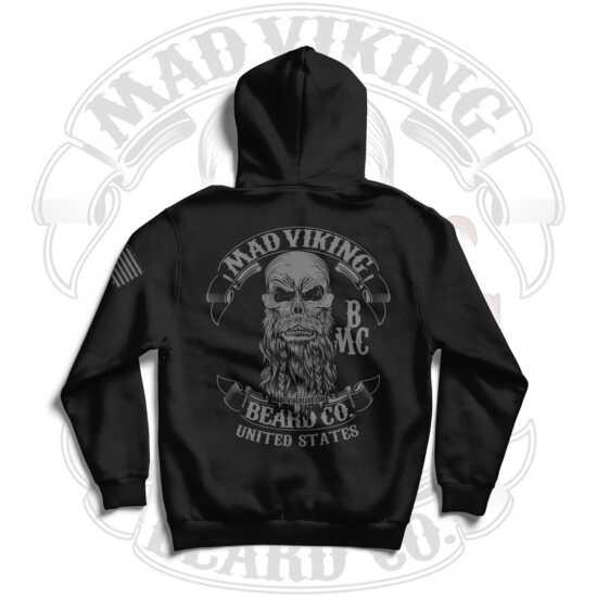 Mad Viking Blackout Hoodie Logo Back