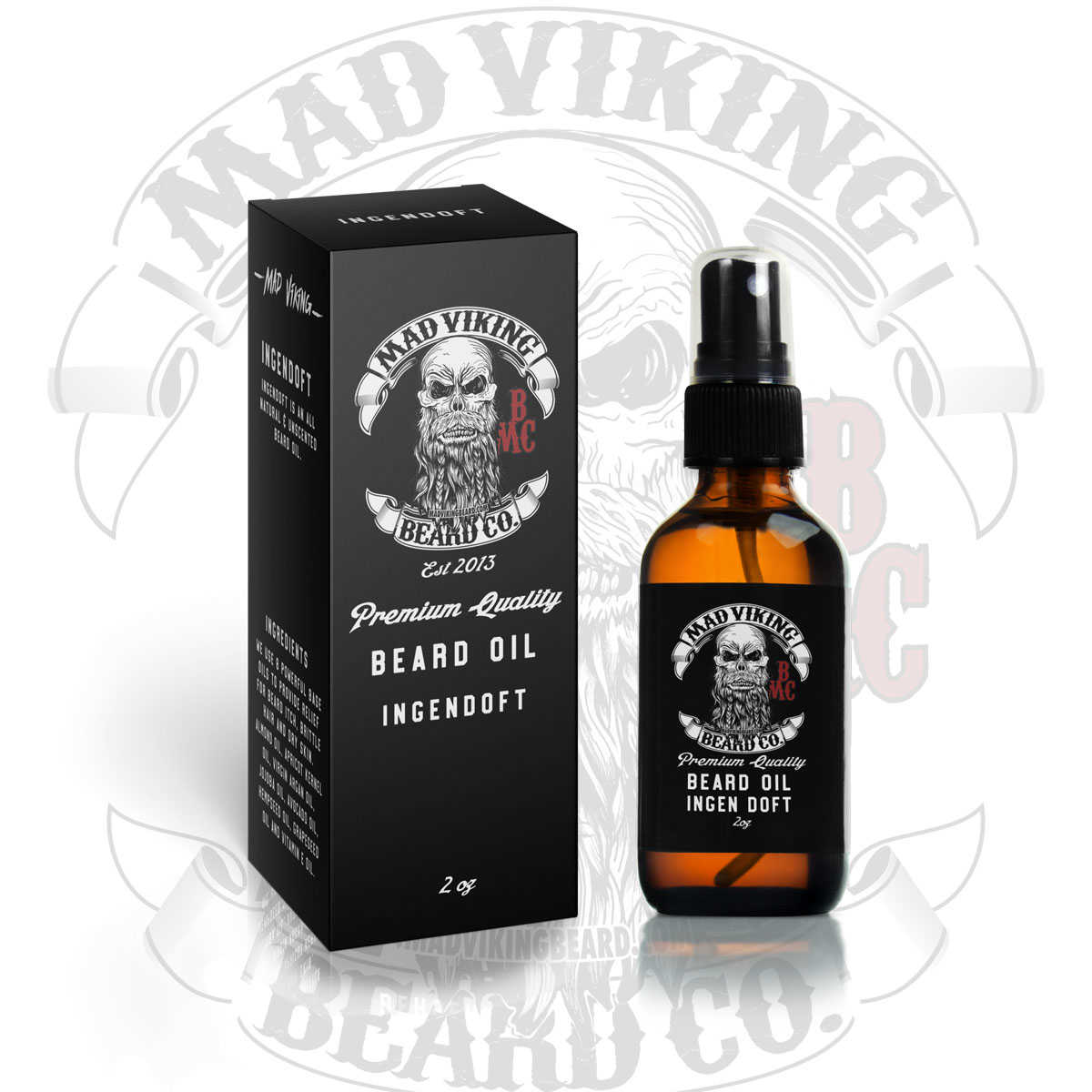 Ingen Doft Beard Oil 2oz (Unscented)
