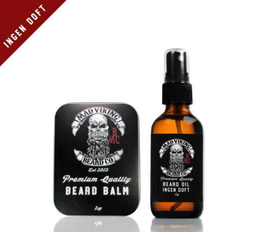 Ingen Doft Beard Oil & Balm Combo 2oz (Unscented)