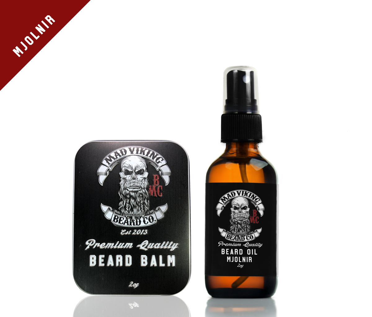 Mjolnir Beard Oil & Balm Combo 2oz