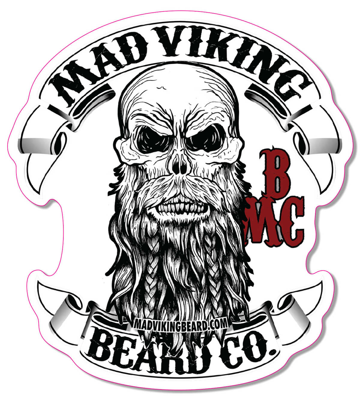 "Mad Viking Logo Sticker 4""x 4.387"""