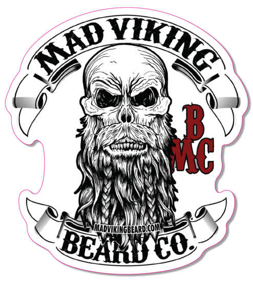 "Mad Viking Logo Sticker 4""x 4.387"""