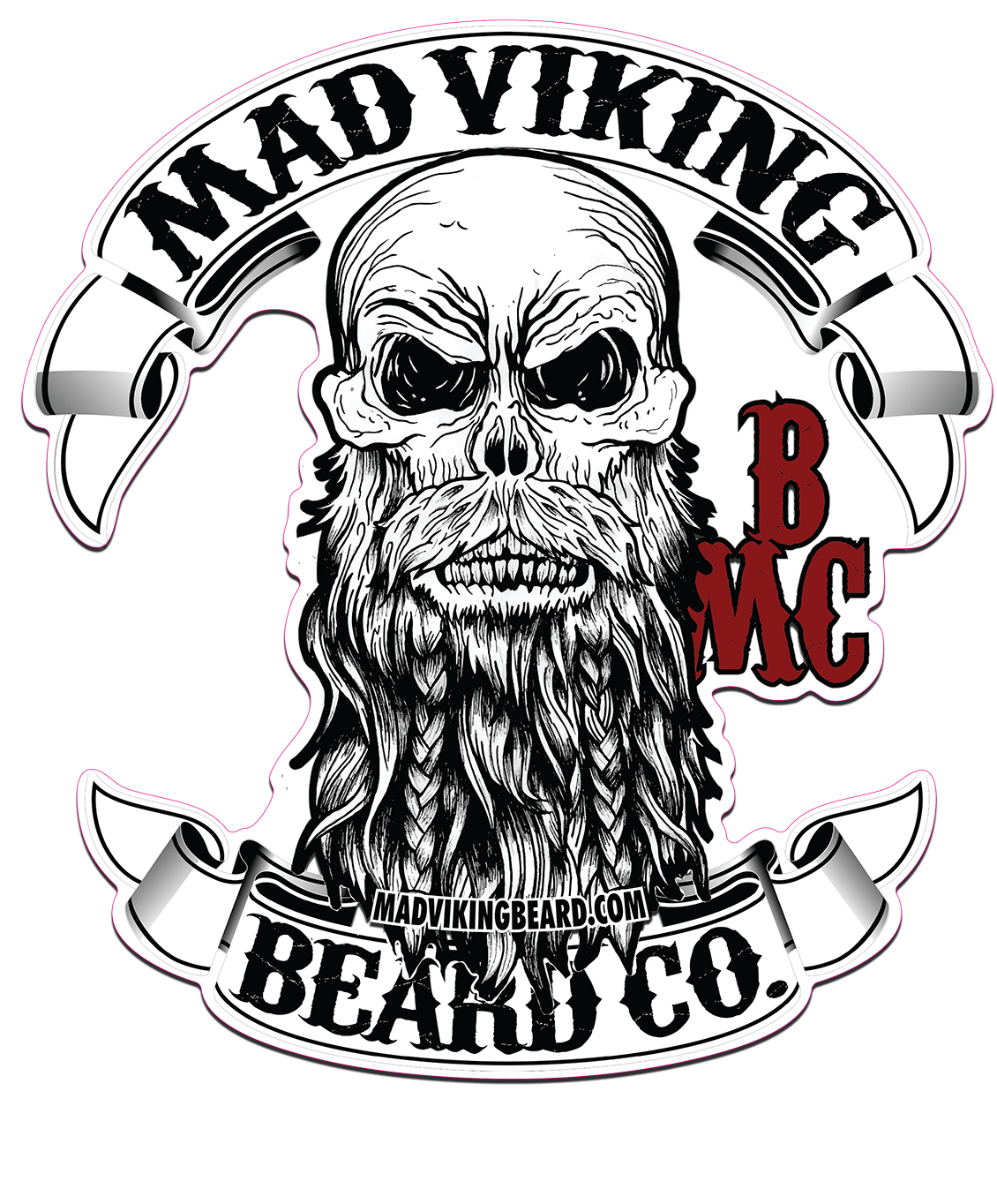 Mad viking logo sticker 11x12