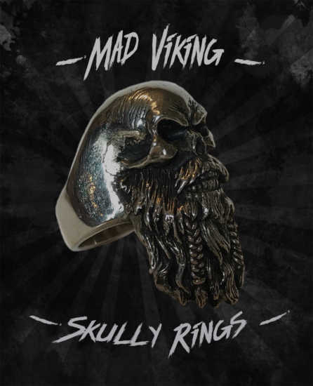 Mad Viking Skully Ring
