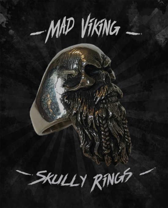 Mad Viking Skully Ring