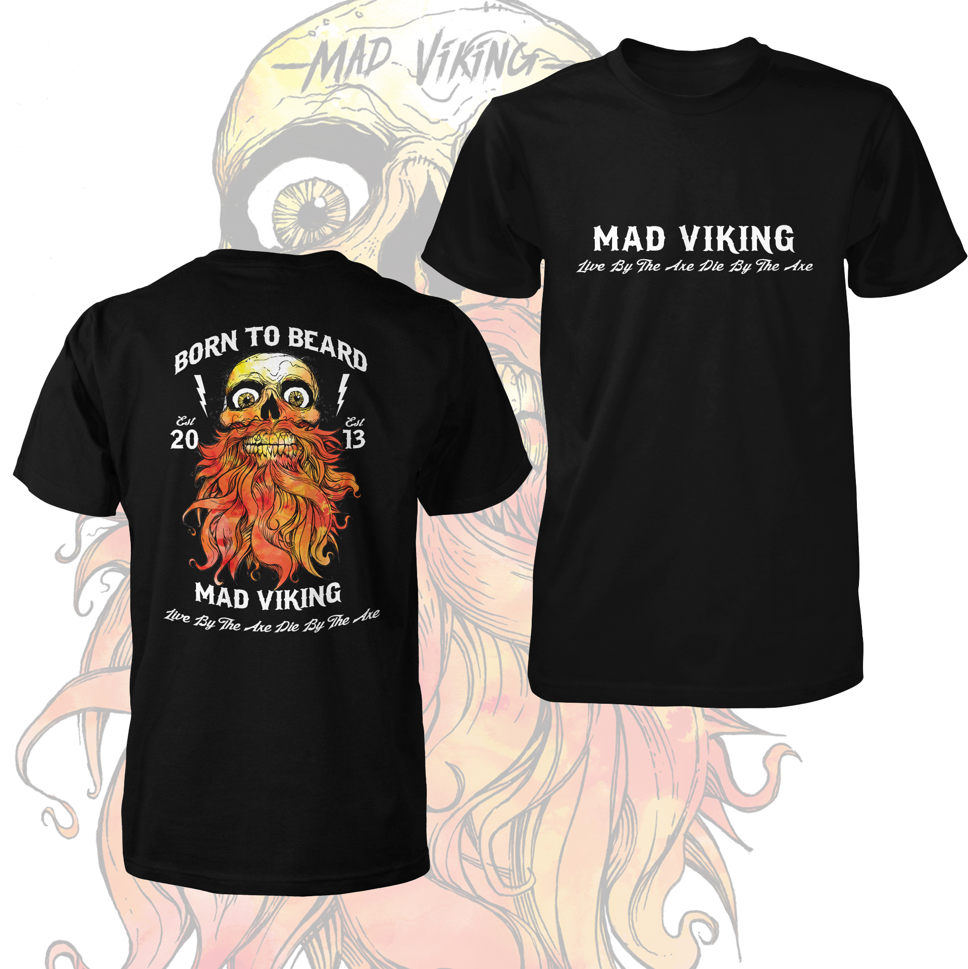 Mad Viking Born To Beard Tee