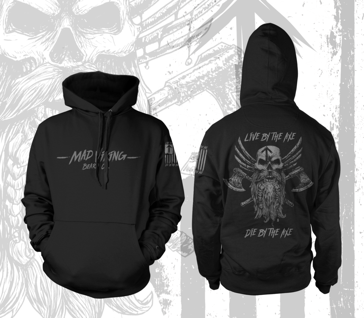 Live By The Axe Warrior Hoodie