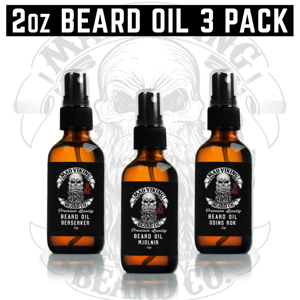 2oz Beard Oil 3 Pack