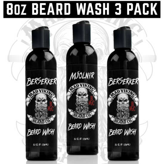 8oz Beard Wash 3 Pack