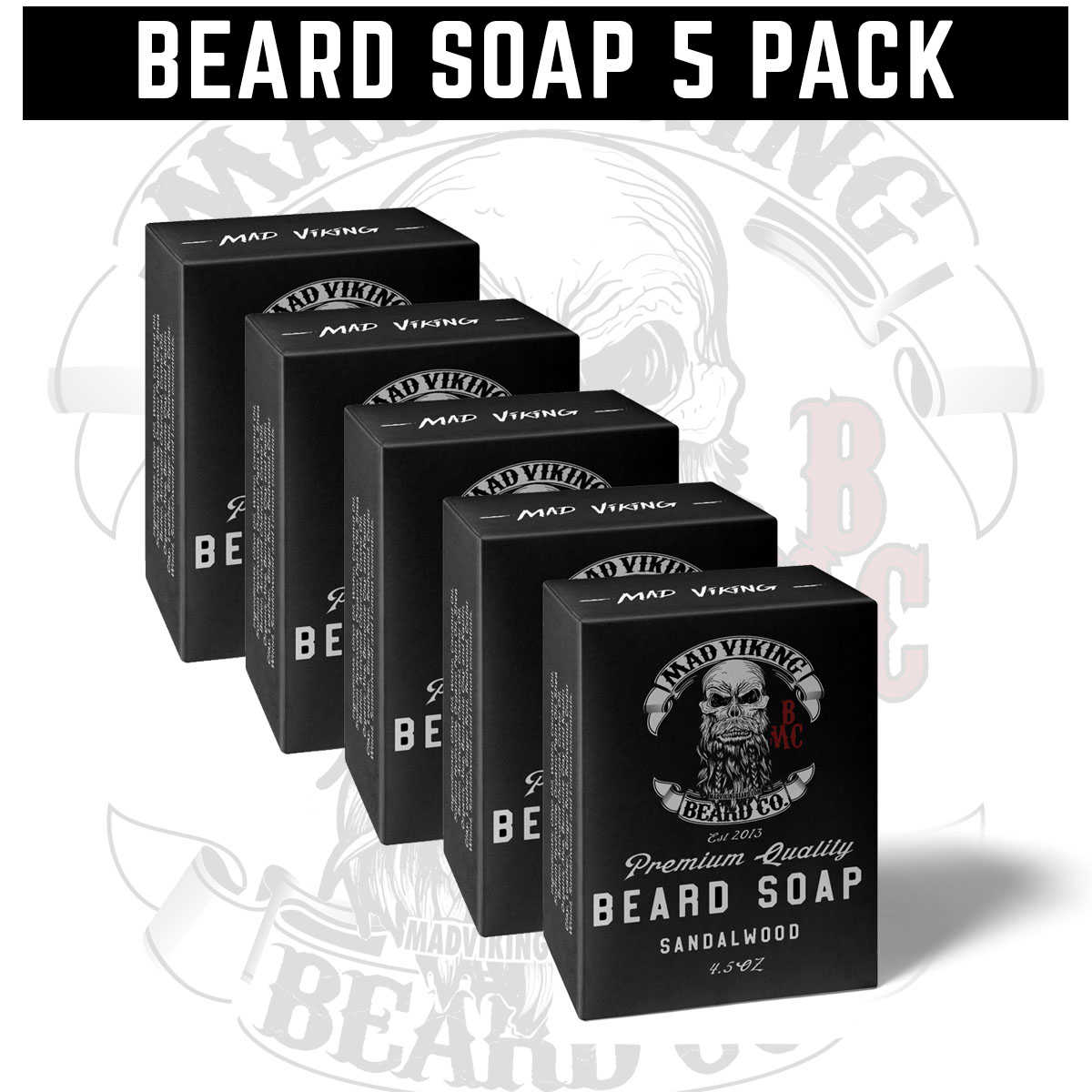 Beard Soap 5 Pack