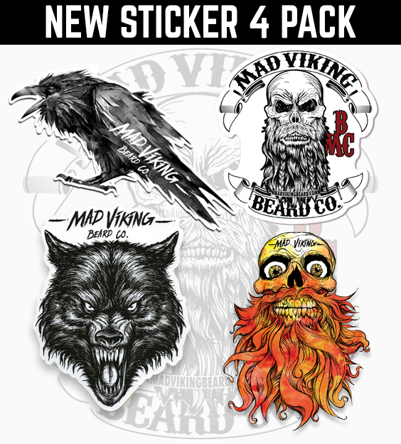 Mad Viking Sticker 4 Pack