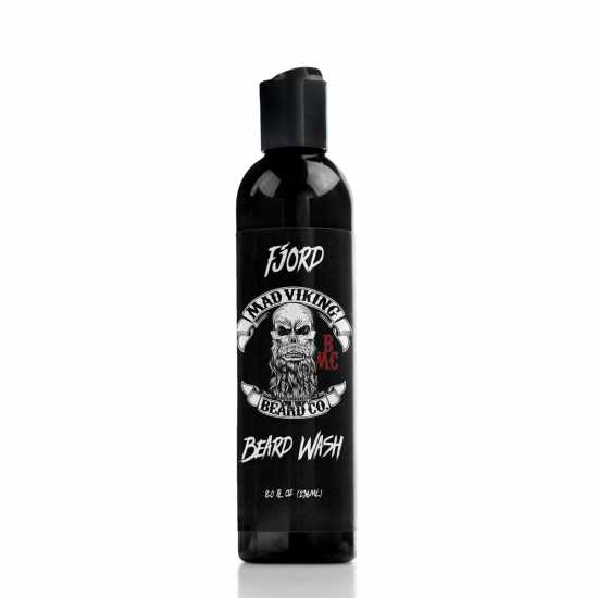 fjord mad viking beard wash black 8 ounce bottle