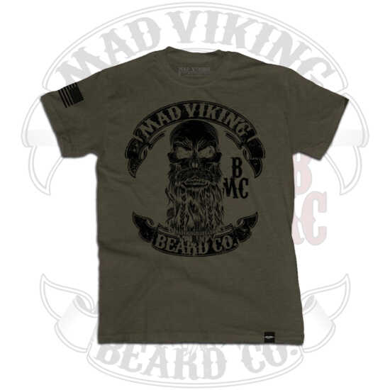 Men's Mad Viking OD Green Tee Front
