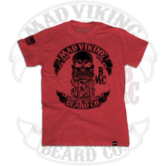 Mad Viking Men's red tee front logo