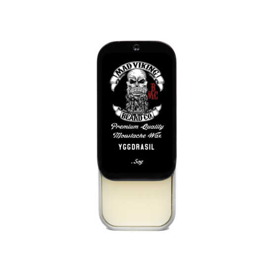 Mad Viking Yggdrasil Mustache Wax slide top tin
