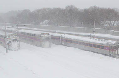 Boston MBTA Commuter Rail Snow