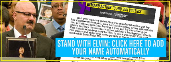 Automatically add your name to Elvin Daniel's letter