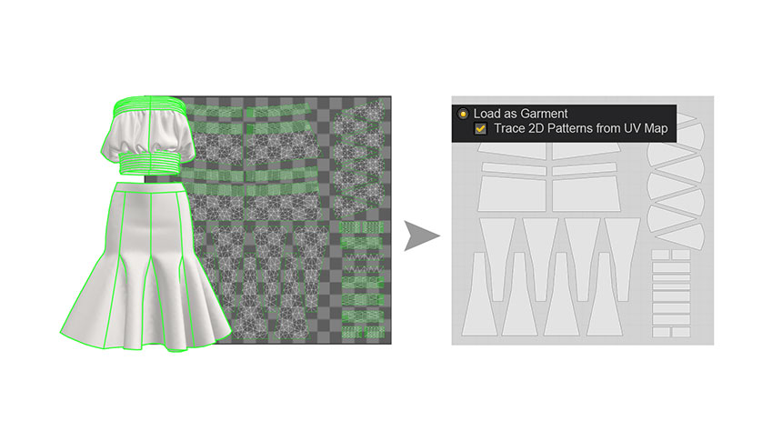 Trace Patterns with UV Map
