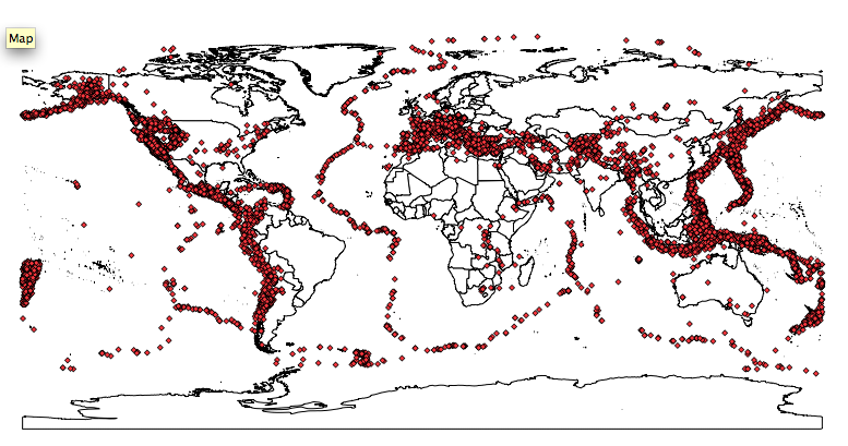 Mapping Earthquakes Cartographica