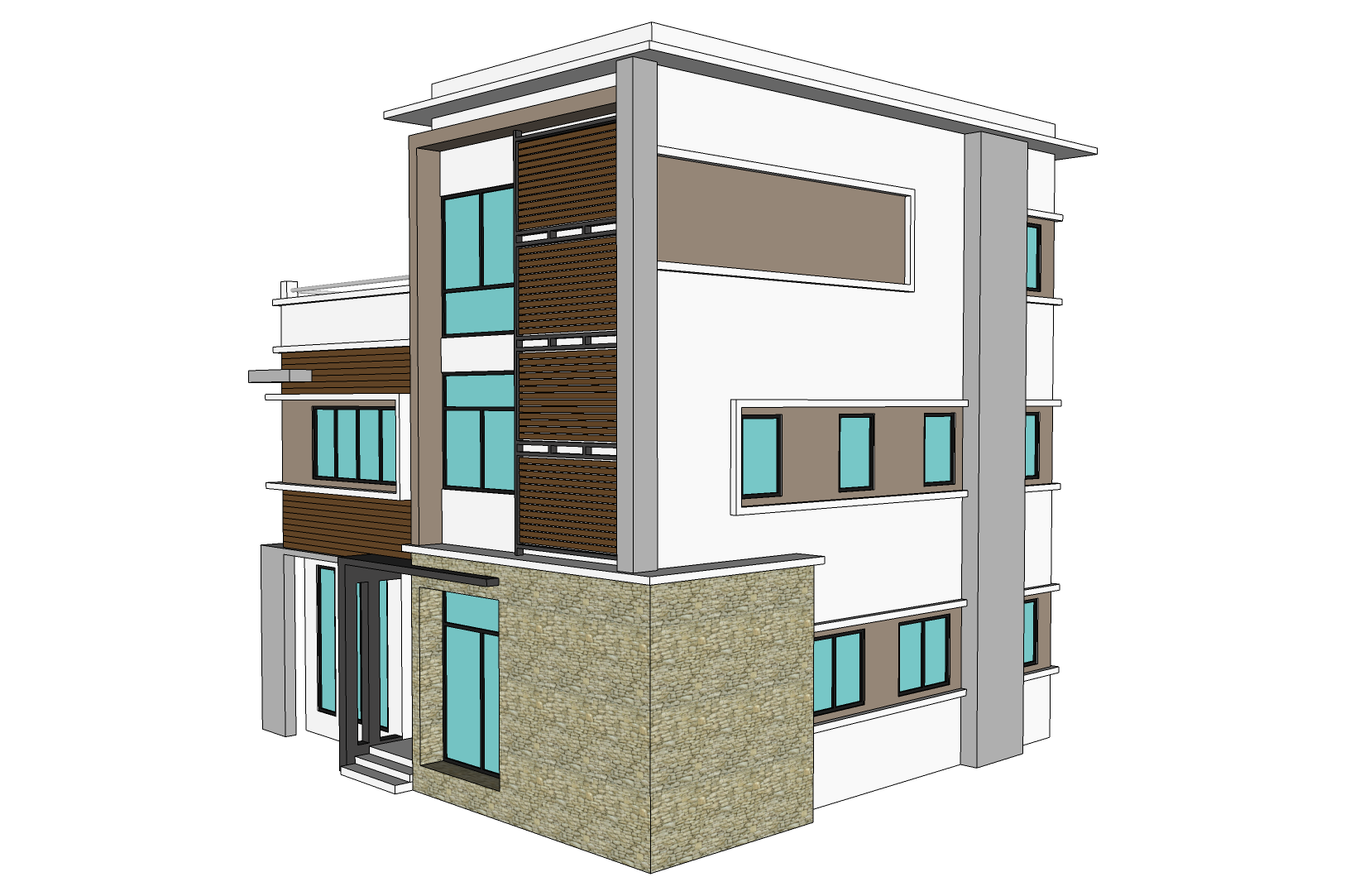 3 Storey Commercial Building Floor Plan 3 Storey Town House Amp Office Nkd