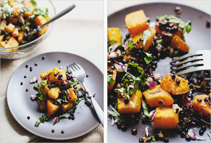 Sauteed Beluga Lentils Butternut Squash Sprouted Kitchen
