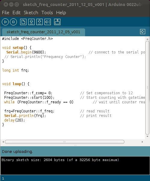 Arduino Frequency Counter — www HOAGLUN com