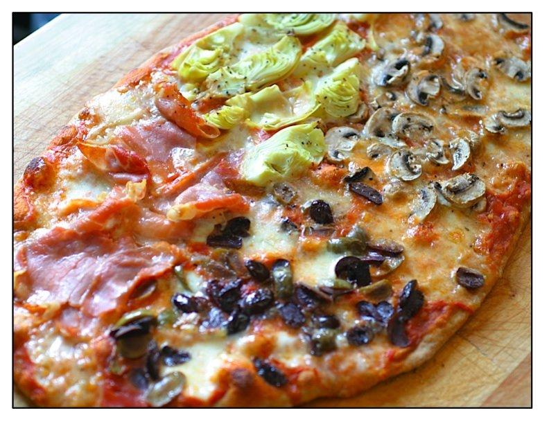 the italian dish posts pizza quattro stagioni. Black Bedroom Furniture Sets. Home Design Ideas