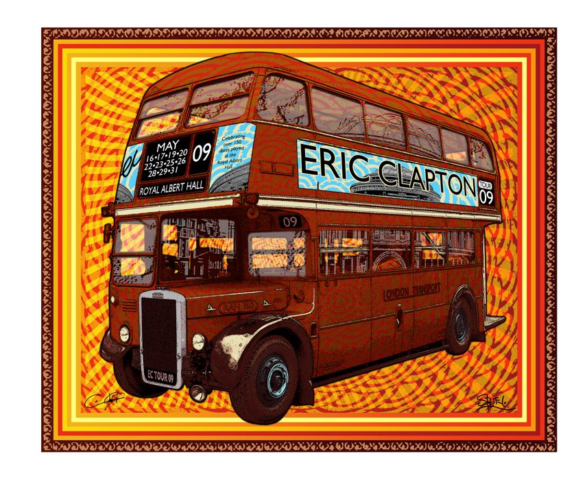 eric clapton 39 royal albert hall 39 print release postersandprints a street art graffiti blog. Black Bedroom Furniture Sets. Home Design Ideas