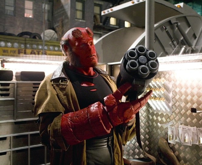 Hellboy II: The Golden Army was entertaining as hell! It was a blast to  watch the big red brute beat the living crap out of the bad guys again!
