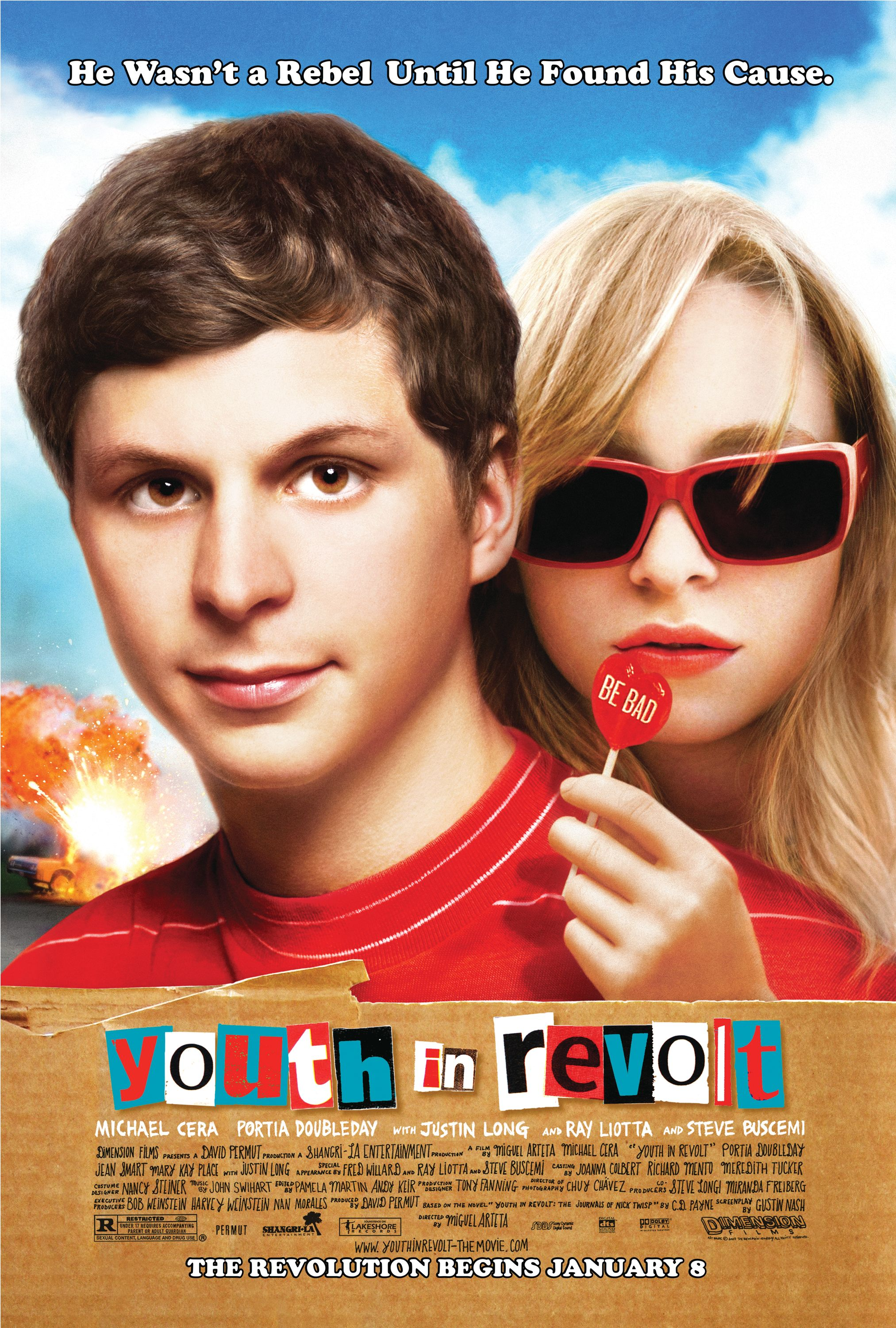 New Poster for Michael Cera's YOUTH IN REVOLT — GeekTyrant