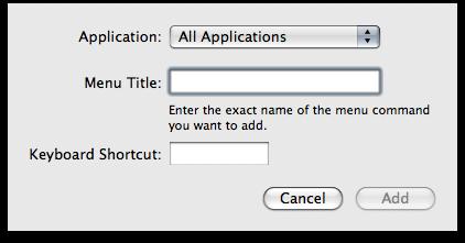 Keyboard Shortcut for