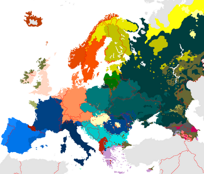 map of european languages blog about infographics and data