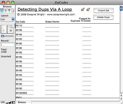 Deleting FileMaker Duplicate Records Via A Looping Script
