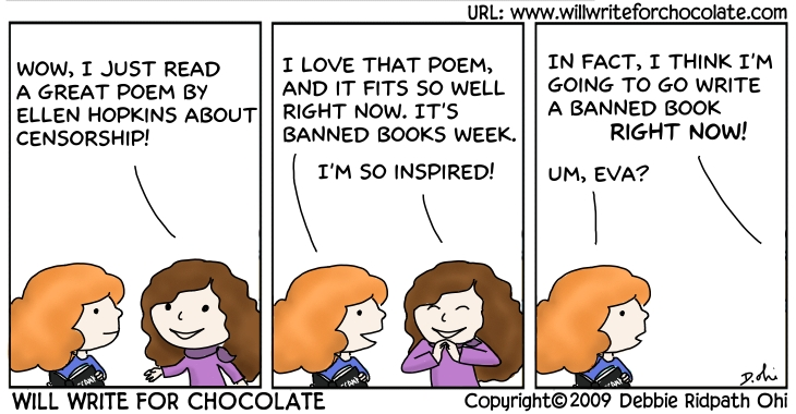 banned books week will write for chocolate via inkyelbows bannedbooksweek 008 from ala s page about banned books