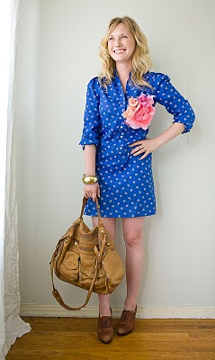 fashion-style-blue-floral-dress-leather-oxfords