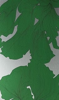 green-leaf-metallic-wallpaper