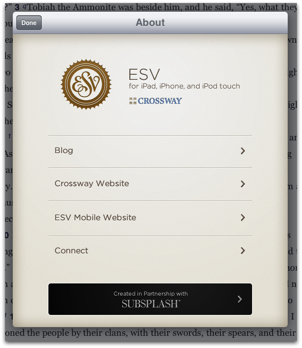 Review: Crossway's ESV Bible HD for iPad - Blog Posts - This Lamp