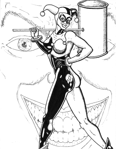 Kevenn t smith blog for Harley quinn coloring pages