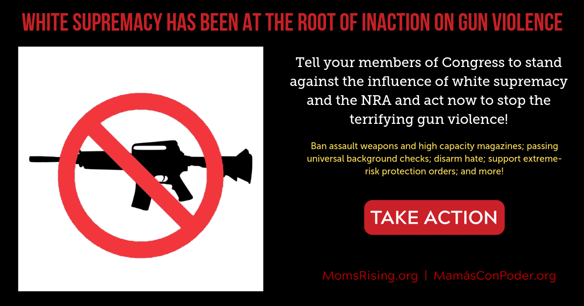 Tell Congress to stand against the influence of white supremacy and the NRA