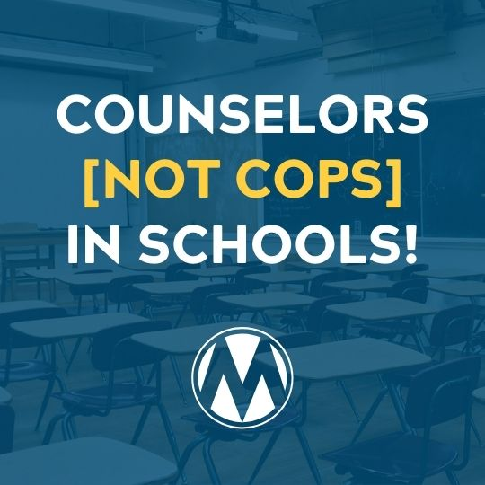 Counselors not Cops