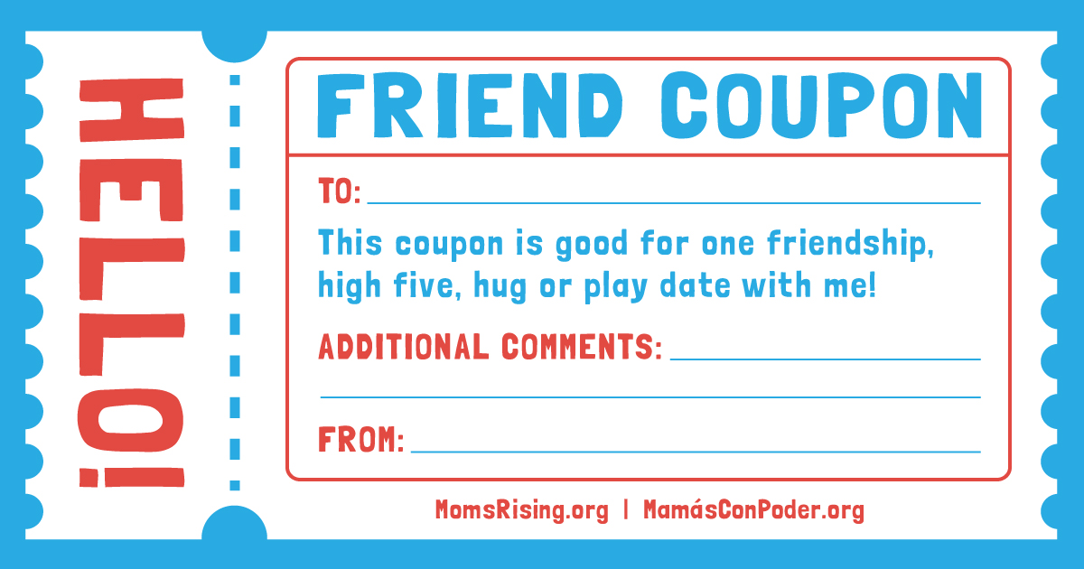 Friends coupons