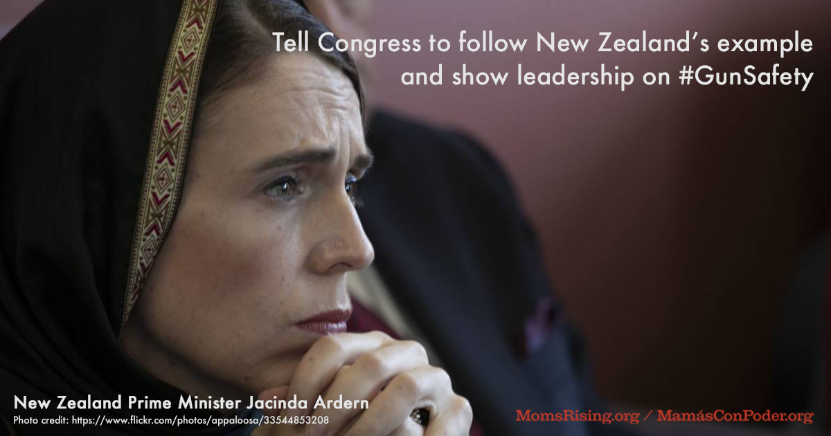 Tell Congress to follow New Zealand's example and show leadership on #GunSafety