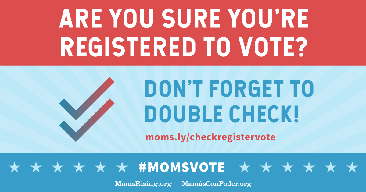 Are you registered to vote? Check here...