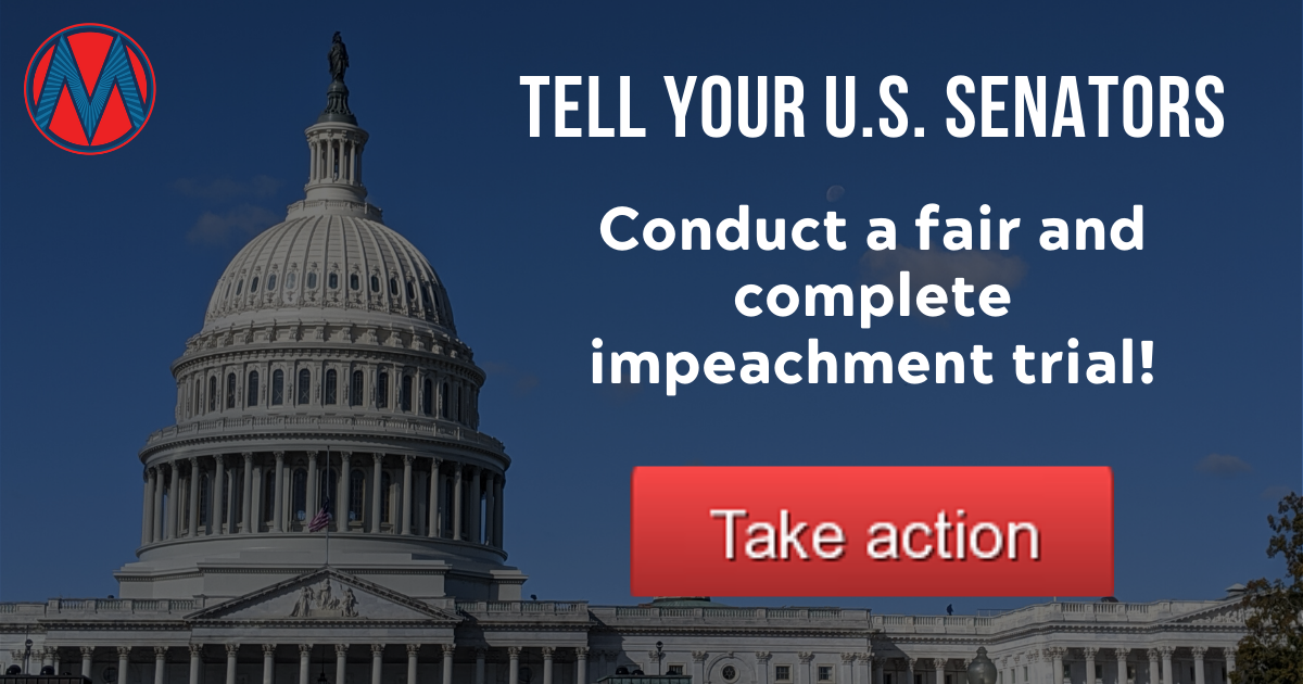 Quick signature: The American people deserve a fair impeachment trial!