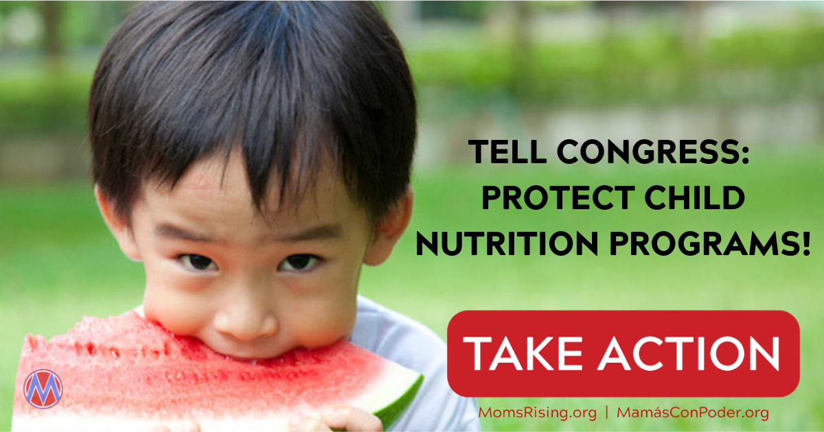 Tell Congress: Protect Child Nutrition Programs!