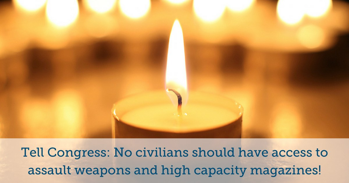 Tell Congress: No civilians should have access to assault weapons and high capacity magazines!