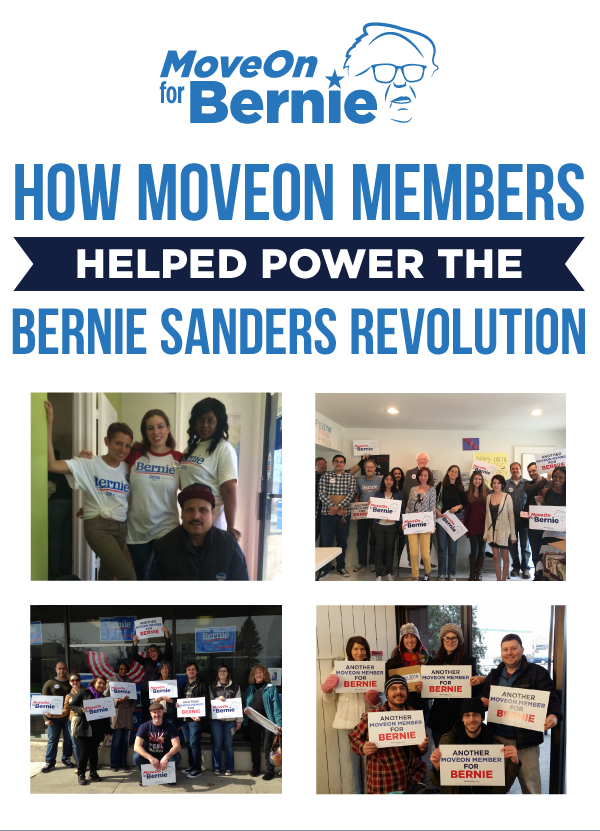 How MoveOn members helped power the Bernie Revolution