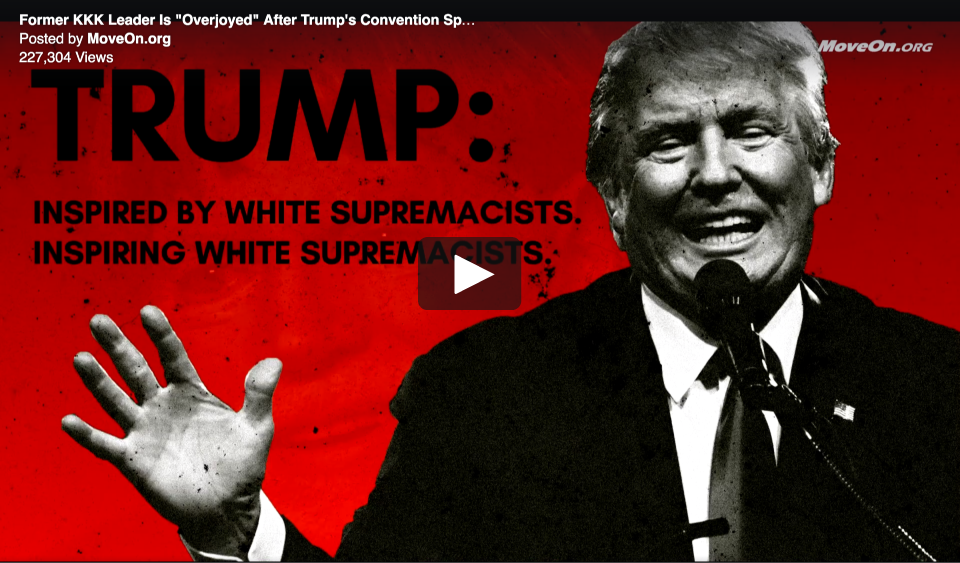 Donald Trump, David Duke and White Supremacy