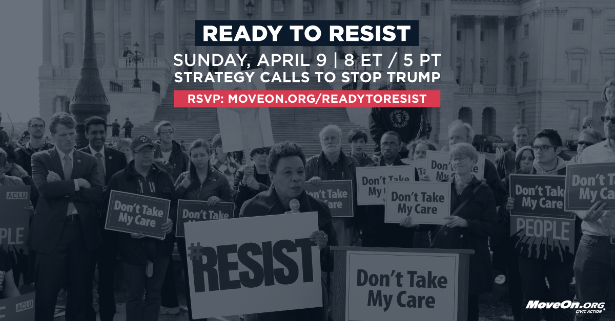 Join the Ready to Resist call!